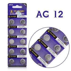 violet coloured strips containing 5 small batteries