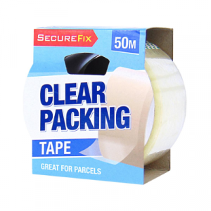 blue coloured strip containing clear packing tapes on which it is written clear packing on it