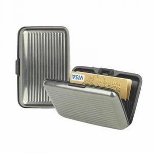 aluminium business credit card holder