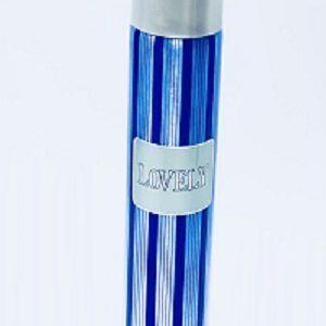 blue colored perfume bottel