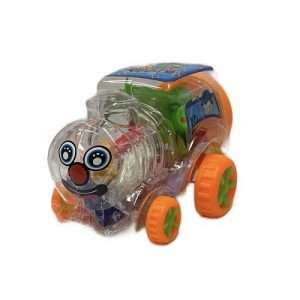 orange coor wheeled car with clay capsules
