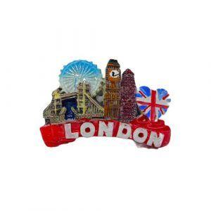 london souviner fridge magnet red coloured