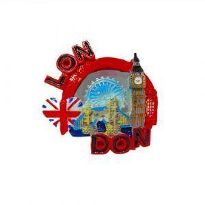 i love london souviner fridge magnet red coloured